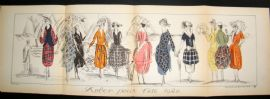 Gazette du Bon Ton 1920 Large Folio Art Deco Pochoir. Robes Pour L'Ete